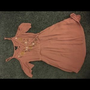 Mauve baby doll top.